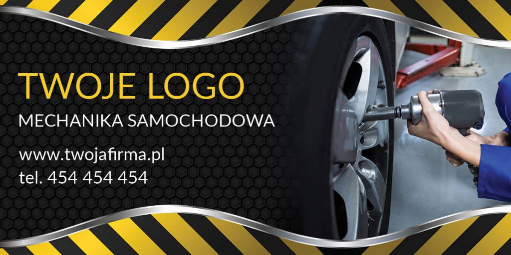 baner reklamowy mechanika samochodowego